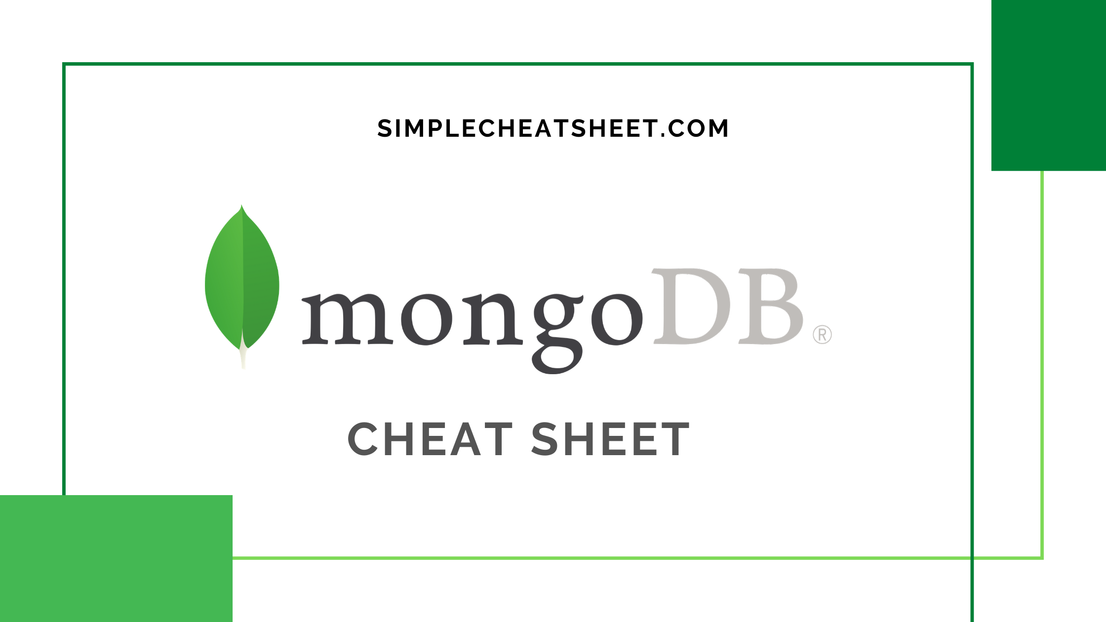 MongoDB Cheat Sheet