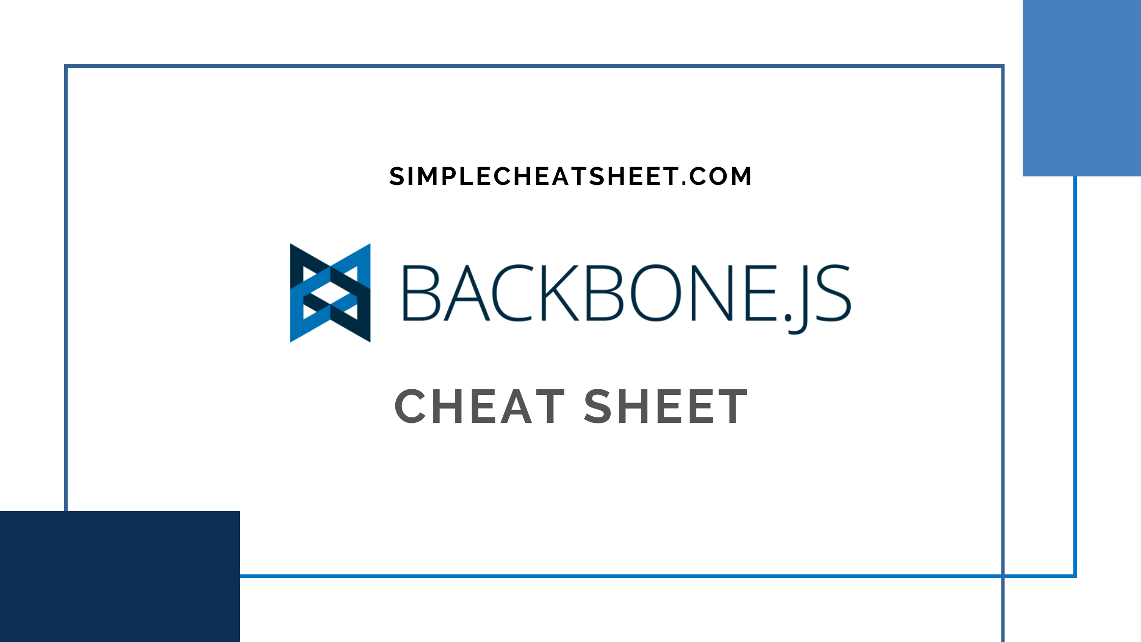 Backbonejs cheat sheet