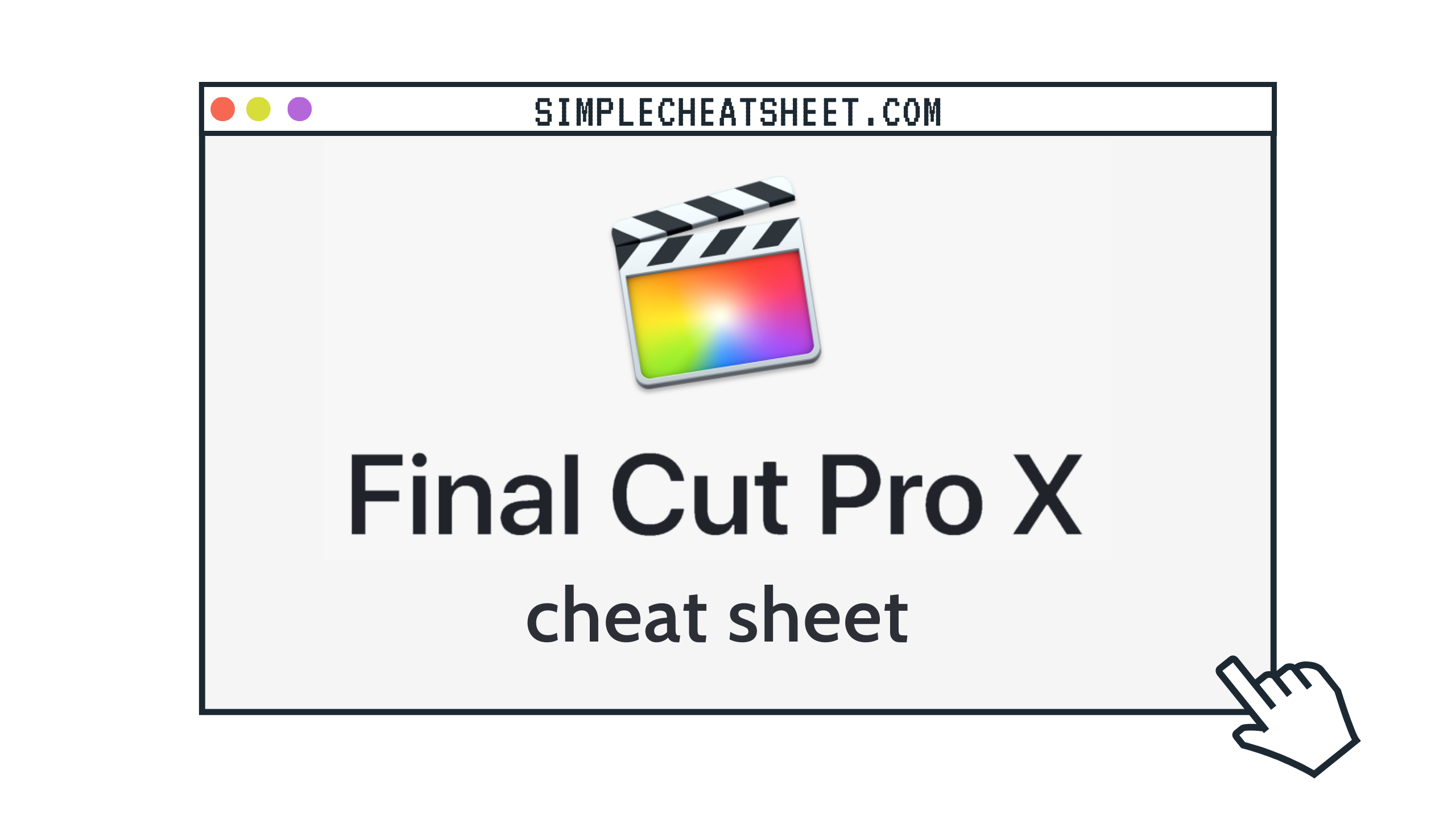 Final Cut Pro Cheat Sheet