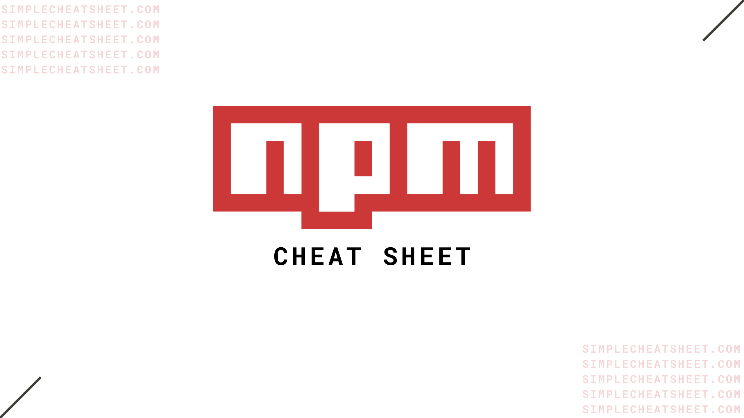 npm cheat sheet