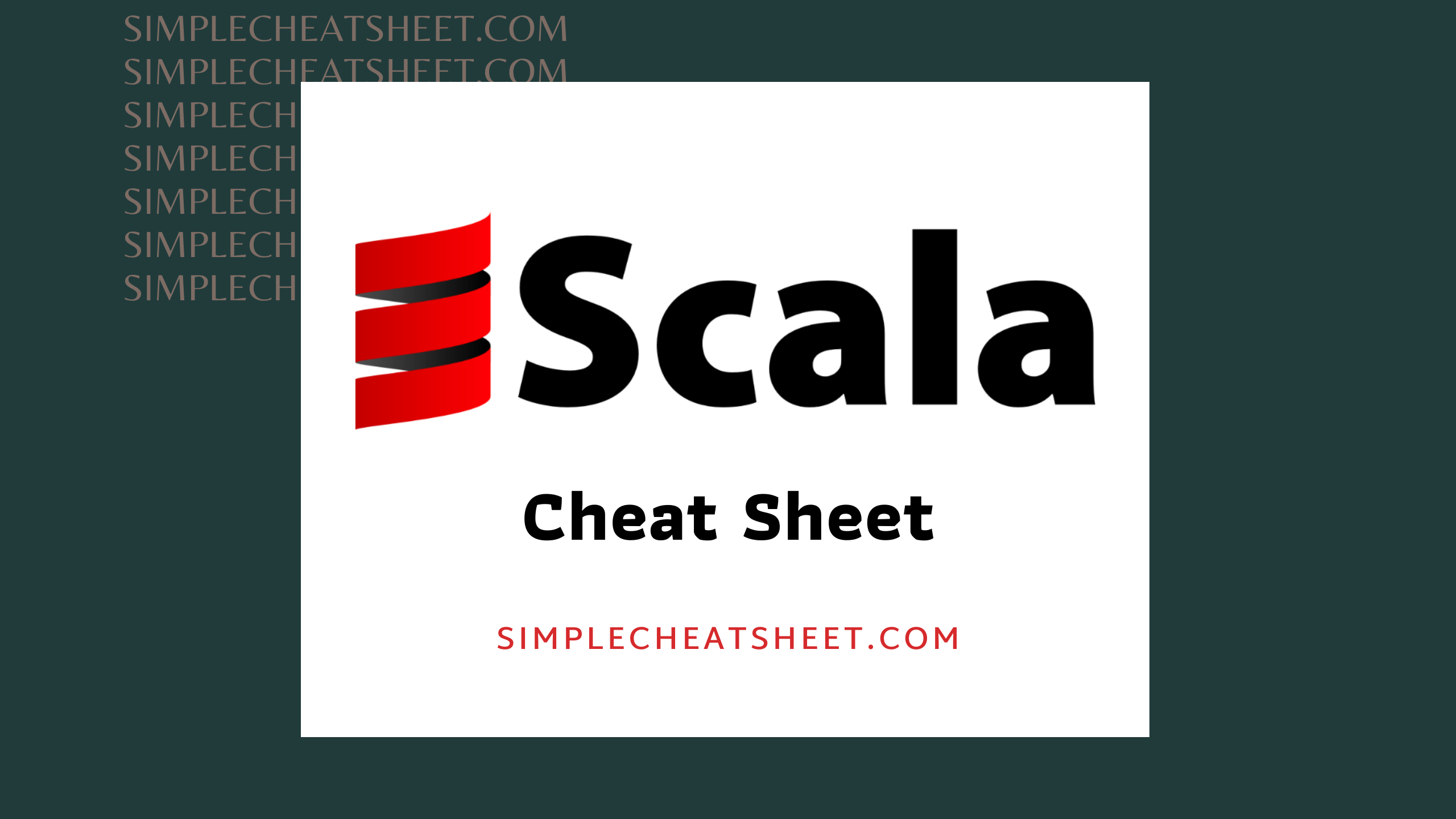 Scala Cheat Sheet